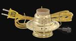 #2 Brass Plated Electric Burner / Brown Cord