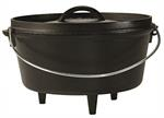 Camp Dutch Oven -  5 Qt 10^ Dia.  Deep / Season