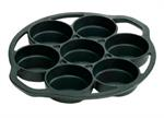 Drop Biscuit Pan 1 1/8^ Deep - 7 Pc / Seasoned