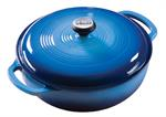 Dutch Oven  - 9-3/4 ^ Dia. - 3 Qt - Blue Enamel