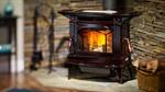 Hampton Large Wood Stove - Timberline Brown