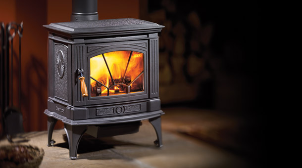Hampton Medium Wood Stove - Charcoal Gray