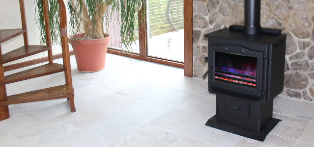 TLC-2000 Coal Stove - w/  Black Door