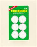 Tub Candles (Pkg Of 6)